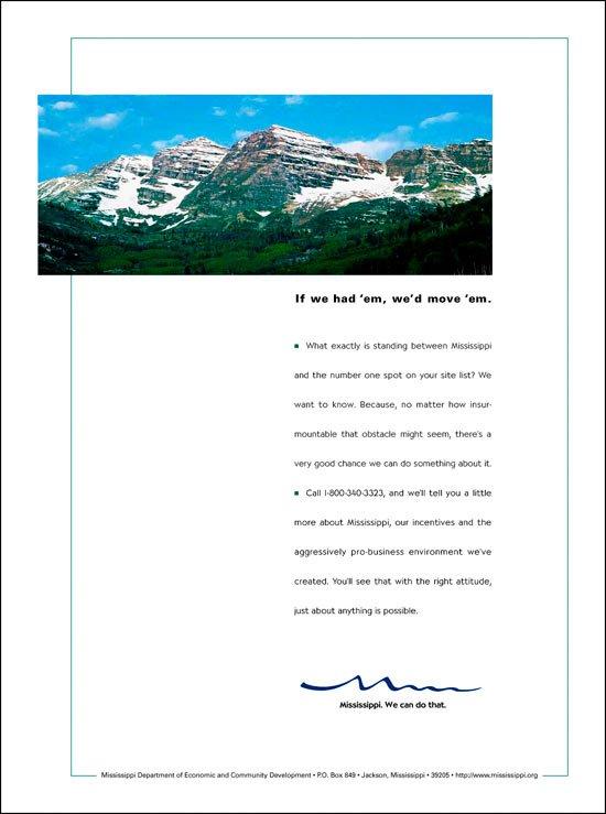 Print Ad: Economic Development Mountains
