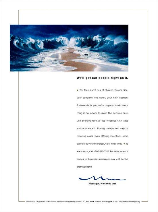 Print Ad: Economic Development Parting Sea