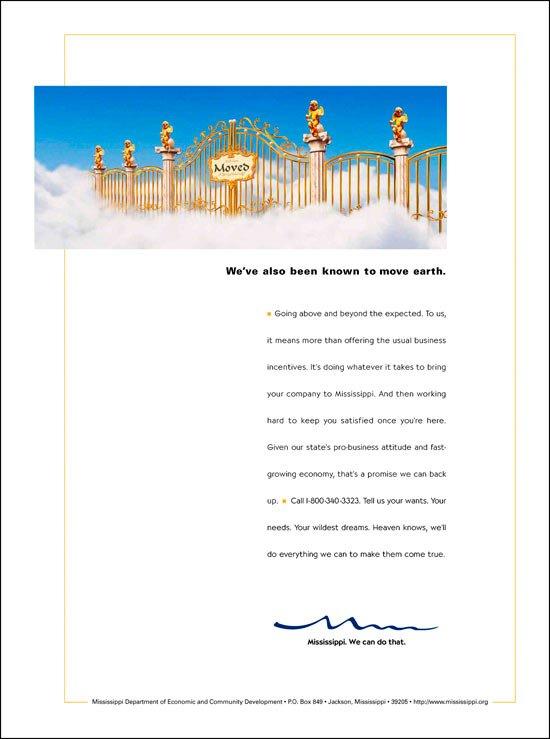 Print Ad: Economic Development Pearly Gates