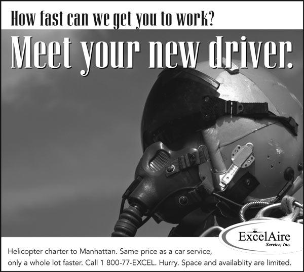 Jet pilot. Headline: How fast can we get you to work? Meet your new driver.