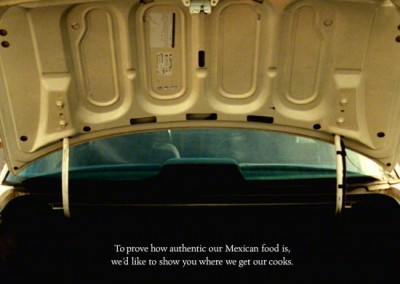 Car Trunk: Roberto's Taco Shop Print Ad