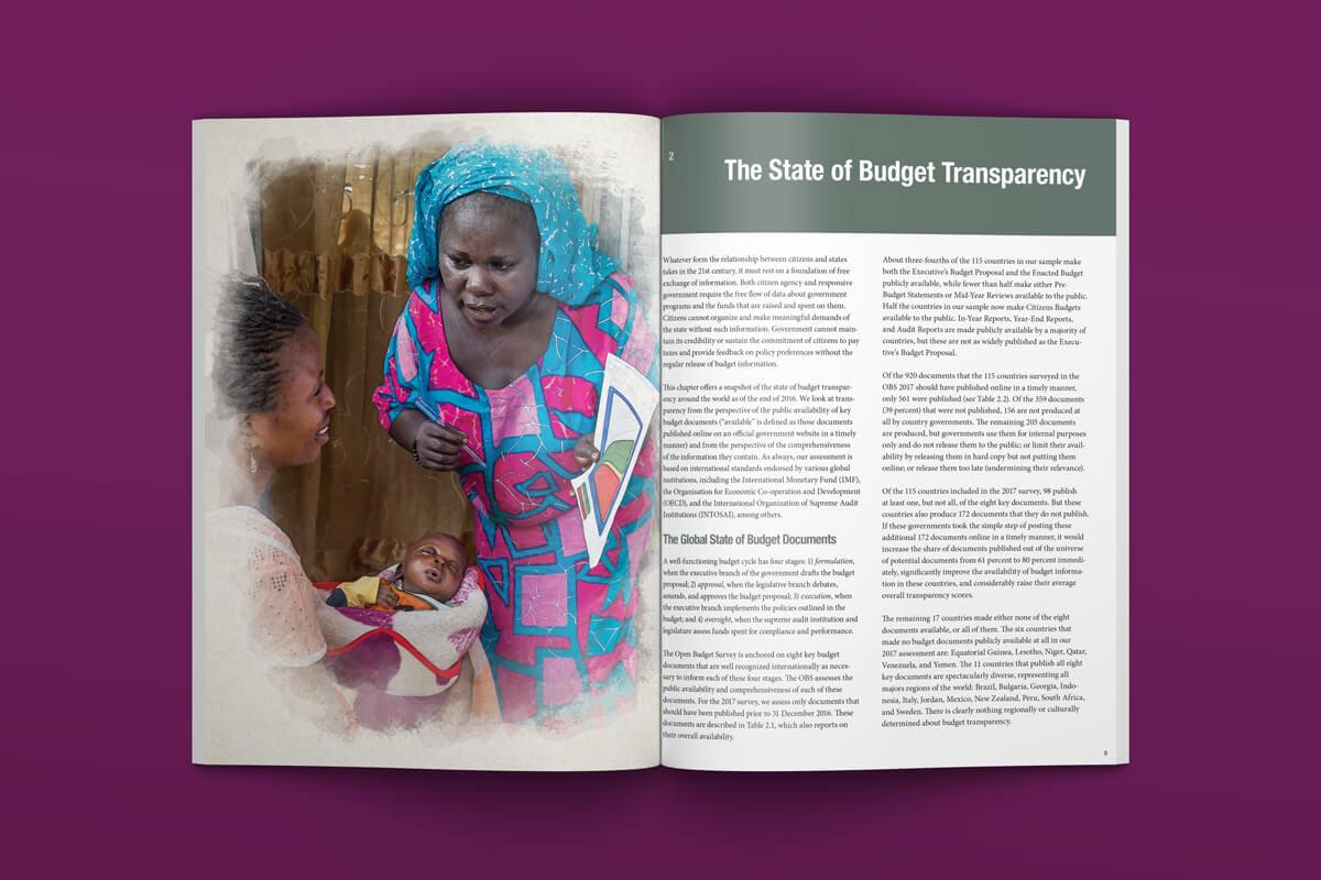 International Budget Partnership Open Budget Survey - Spread 2