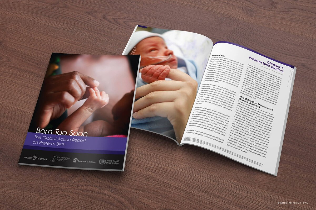 March of Dimes Global Action Report on Preterm Birth - Cover Design