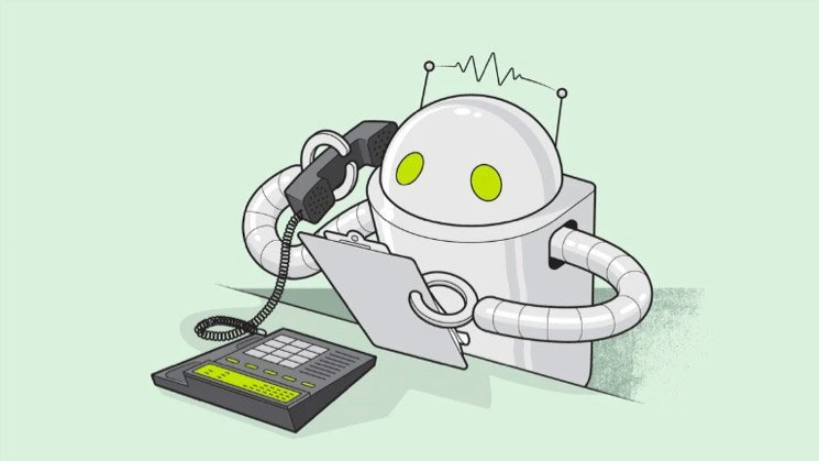 Robot making unsolicited phone calls