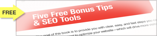 SEO eBook Bonus Five FREE SEO Tips