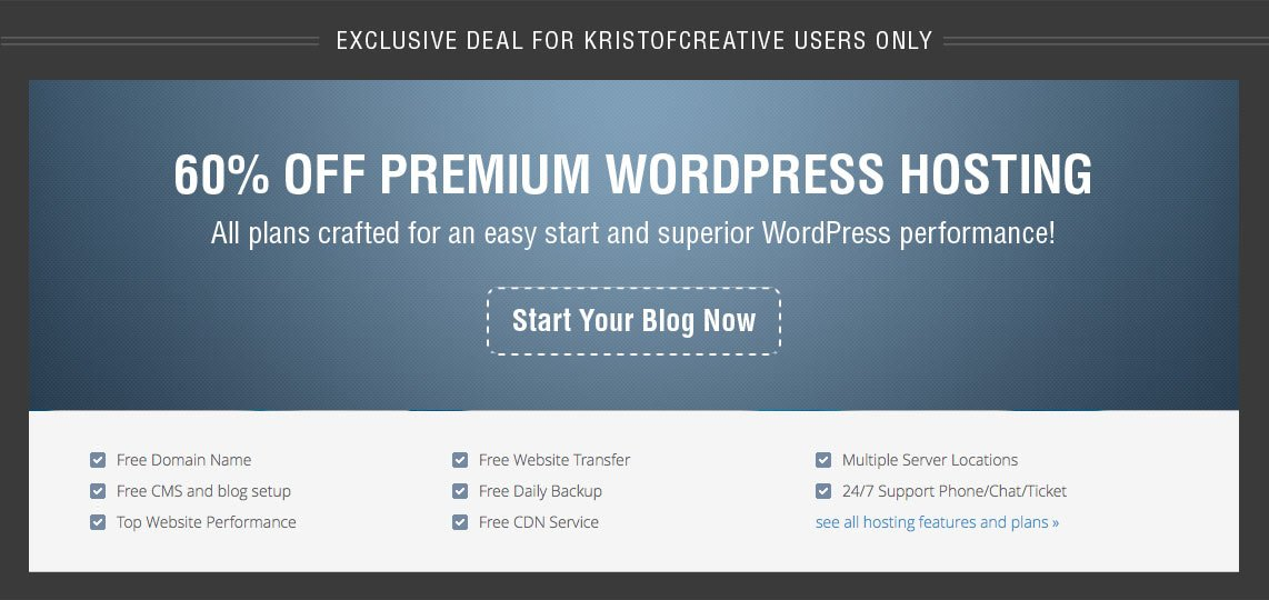 60% Off Premium WordPress Hosting