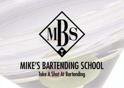 Slogan for Bartending School: Take A Shot At Bartending.