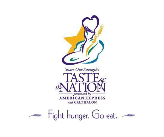 1996 Taste of the Nation Event Slogan: Fight Hunger. Go Eat.