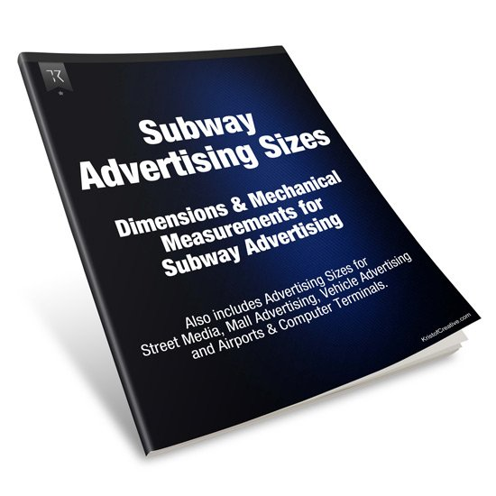 Subway Advertising Sizes and Mechanical Dimensions