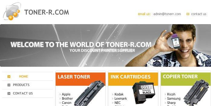 Tonerr.com Website BEFORE redesign