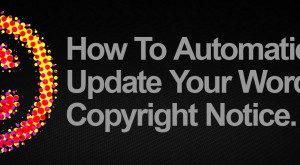 How to Automatically Update Copyright Notice in Your WordPress Footer