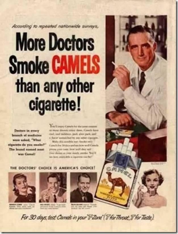 Vintage Print Ad for Camel Cigarettes