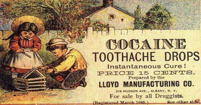 Vintage Print Ad for Cocaine Product