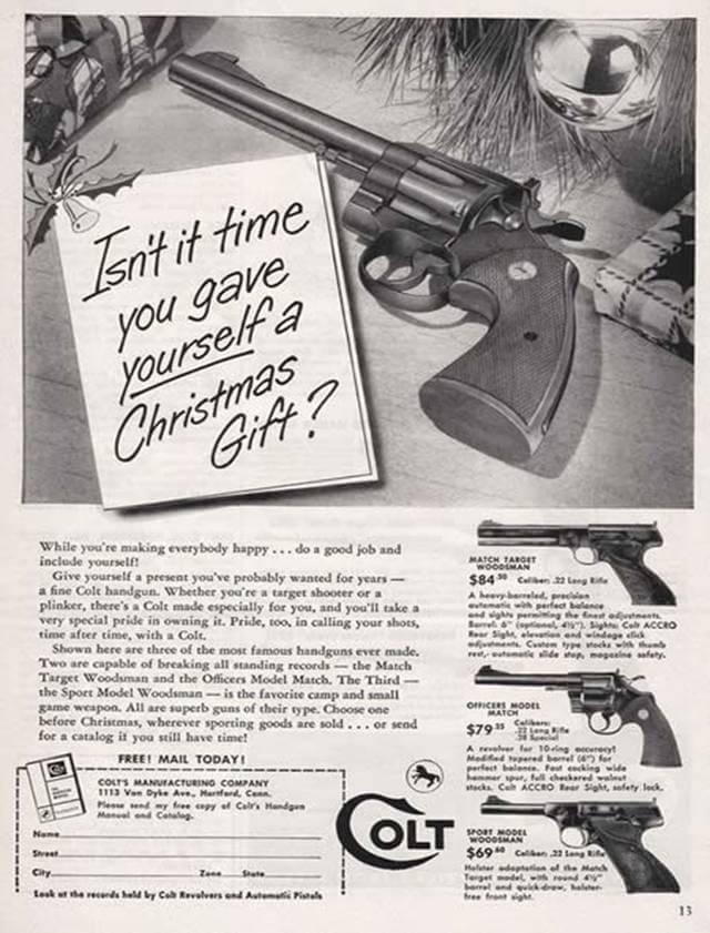 Vintage Print Ad for Colt Guns