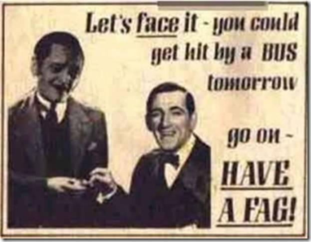 Vintage Print Ad for Cigarette