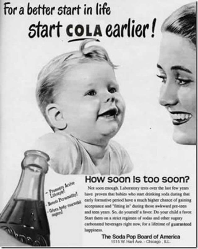 Vintage Print Ad for Soda Pop