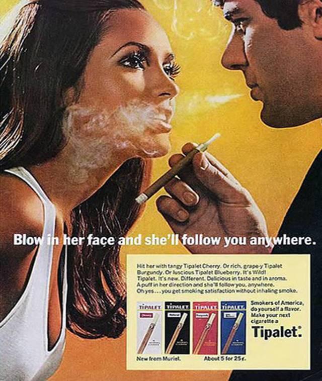 Vintage Print Ad for Tipalet Cigarettes