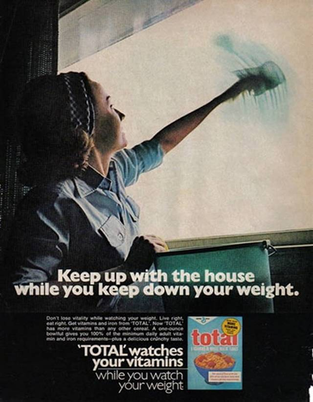Vintage Print Ad for Total Cereal