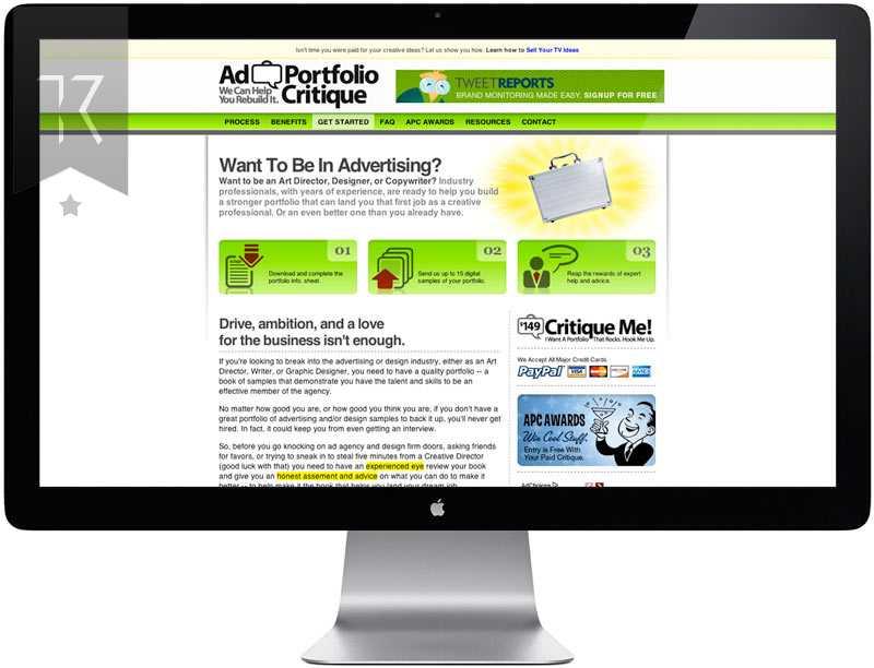 Ad Portfolio Website Design