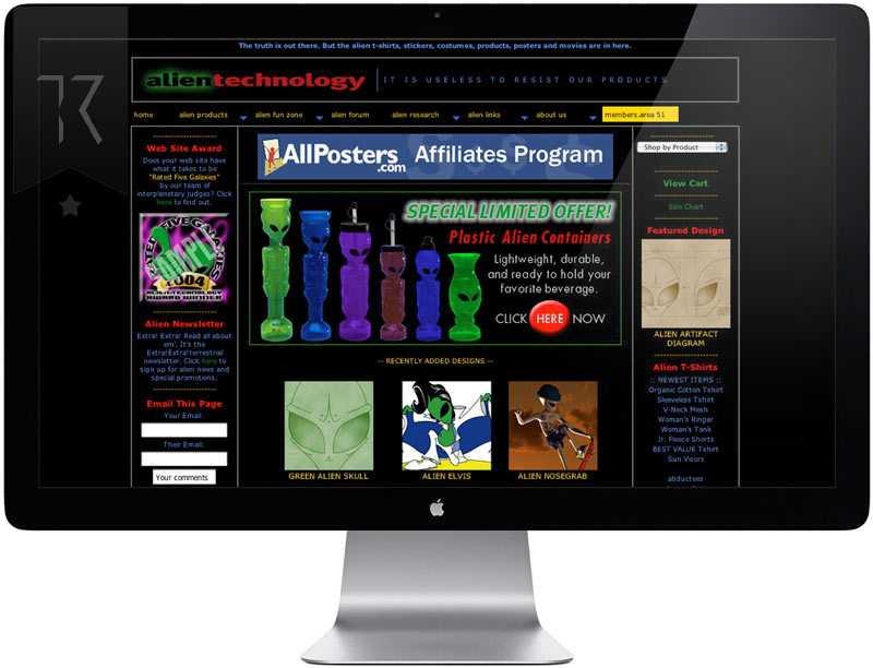 alien-technology Website Design