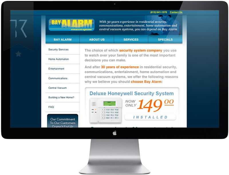 Bay Alarm Website Design