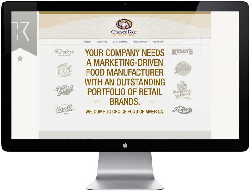 Choice food of America Website Design