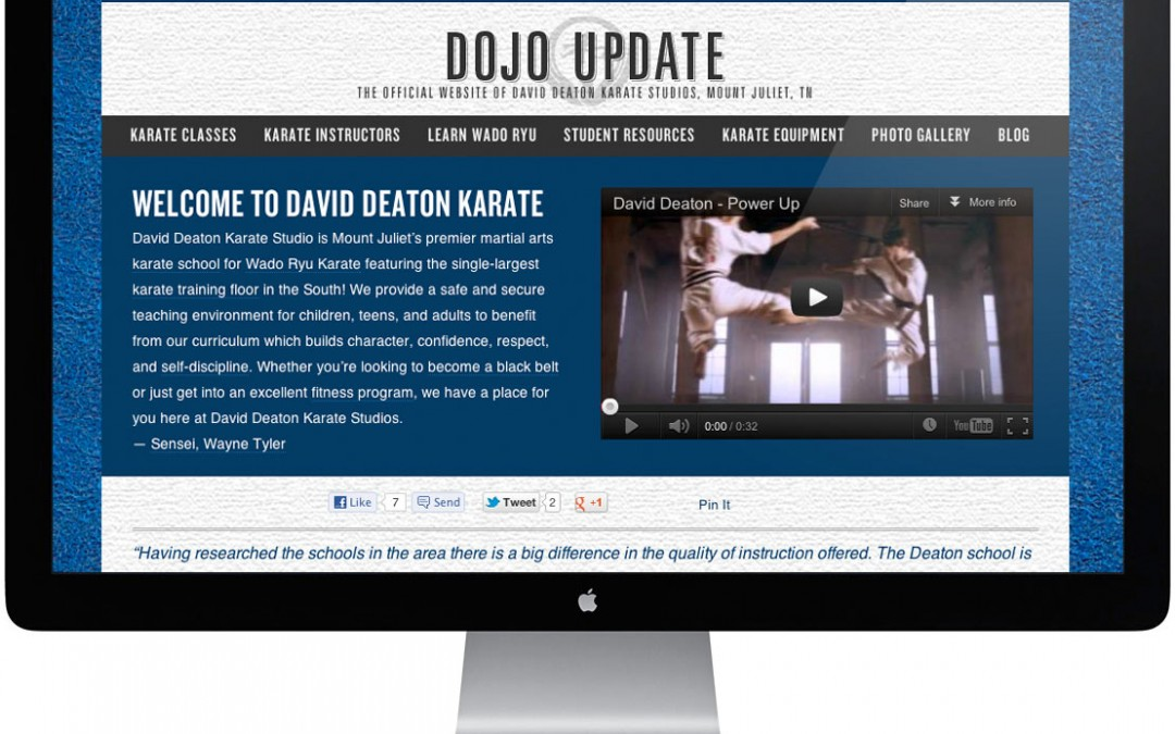 David Deaton Karate Website Redesign