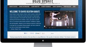David Deaton Karate Website Redesign
