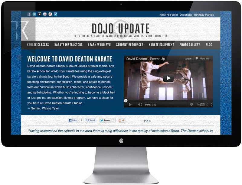 Karate Studio Website Design