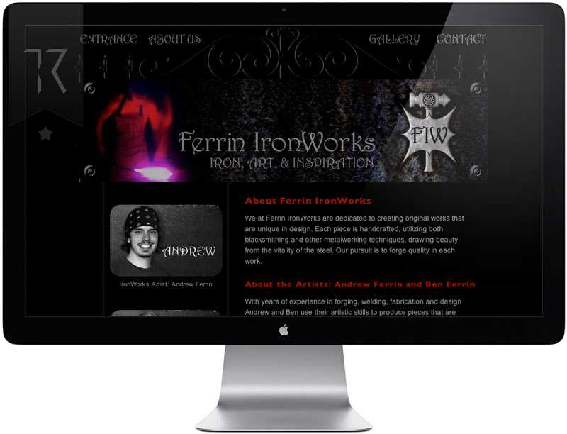 Ferrin Iron Works Website Design