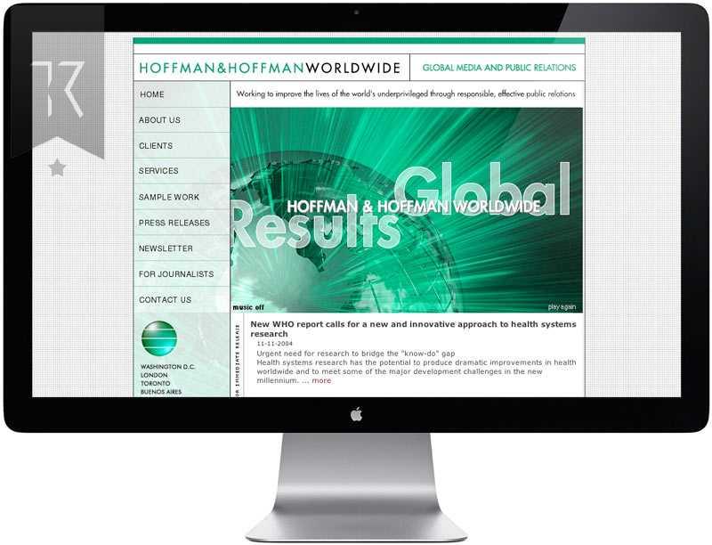 Hoffman Public Relations Website Design
