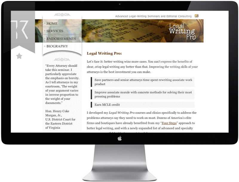 Legal Writing Pro Website Design