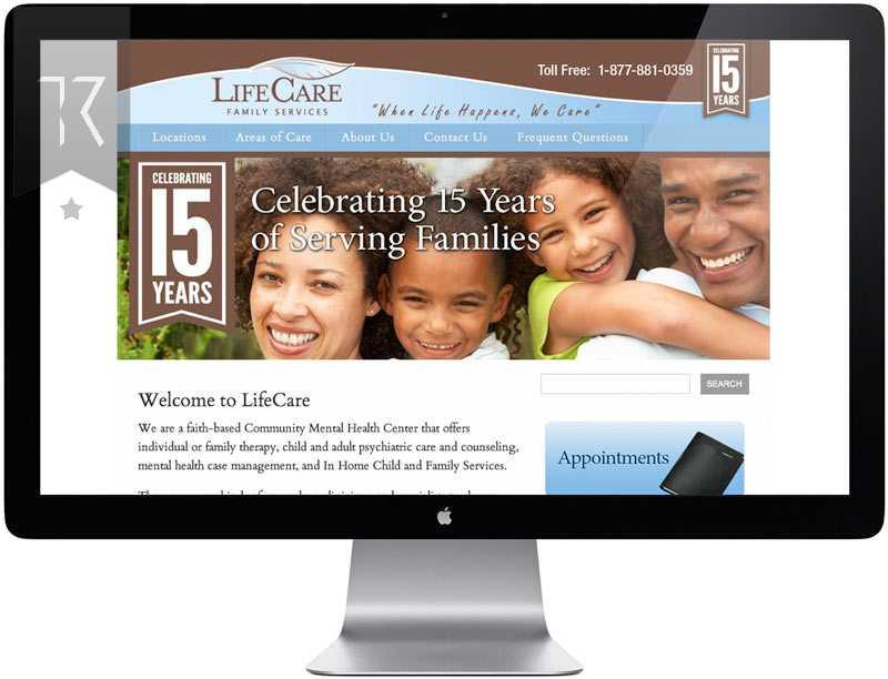 LifeCare Website Design