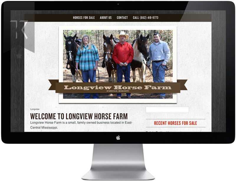 Longview Horse Farm Website Design