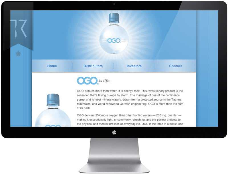 OGO water Website Design