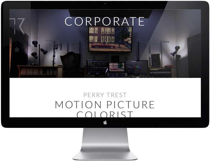 Motion Picture Colorist Website Design