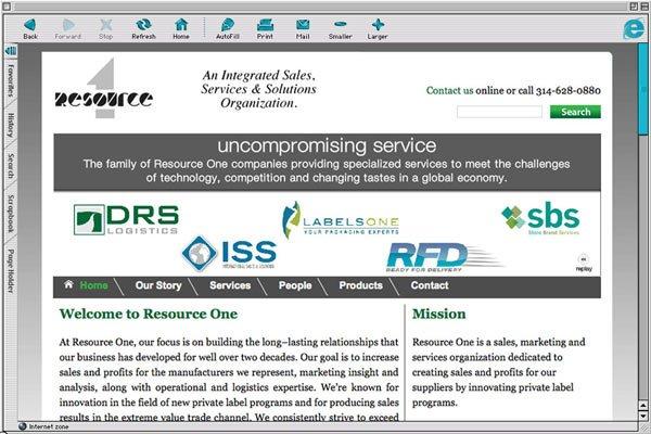 Original Resource One Website (Before Redesign)