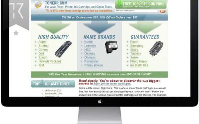 Tonerr.com Website Redesign